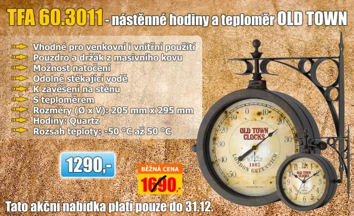 Zahradní hodiny s teploměrem TFA 60.3011 NOSTALGIE