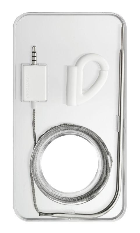 Gurmánský teploměr pro chytré telefony TFA 14.1505.02 THERMOWIRE - bílý