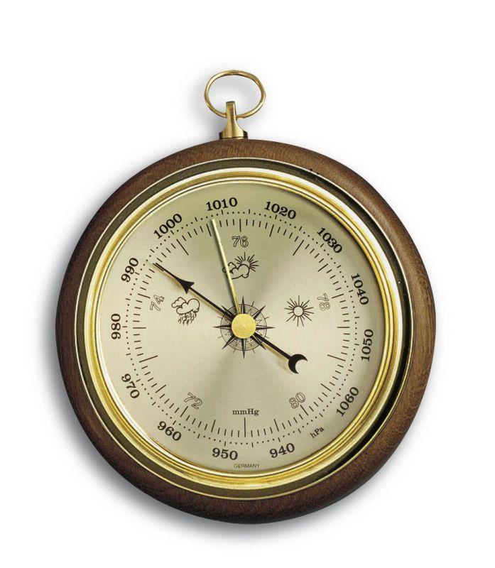 Barometr 102 mm na zavěšení - TFA 29.4002 - dub
