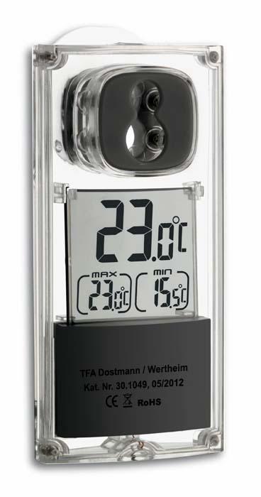 Digitální solární venkovní teploměr na okno TFA 30.1049