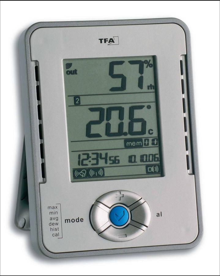 Profi teploměr s vlhkoměrem připojitelný k PC TFA 30.3015