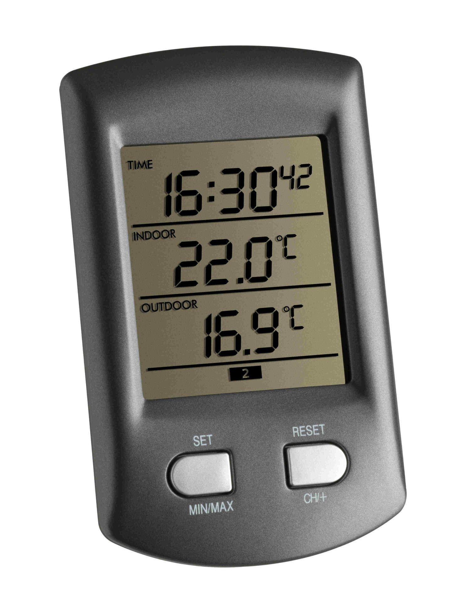 Bezdrátový teploměr s hodinami TFA 30.3034.10 RATIO