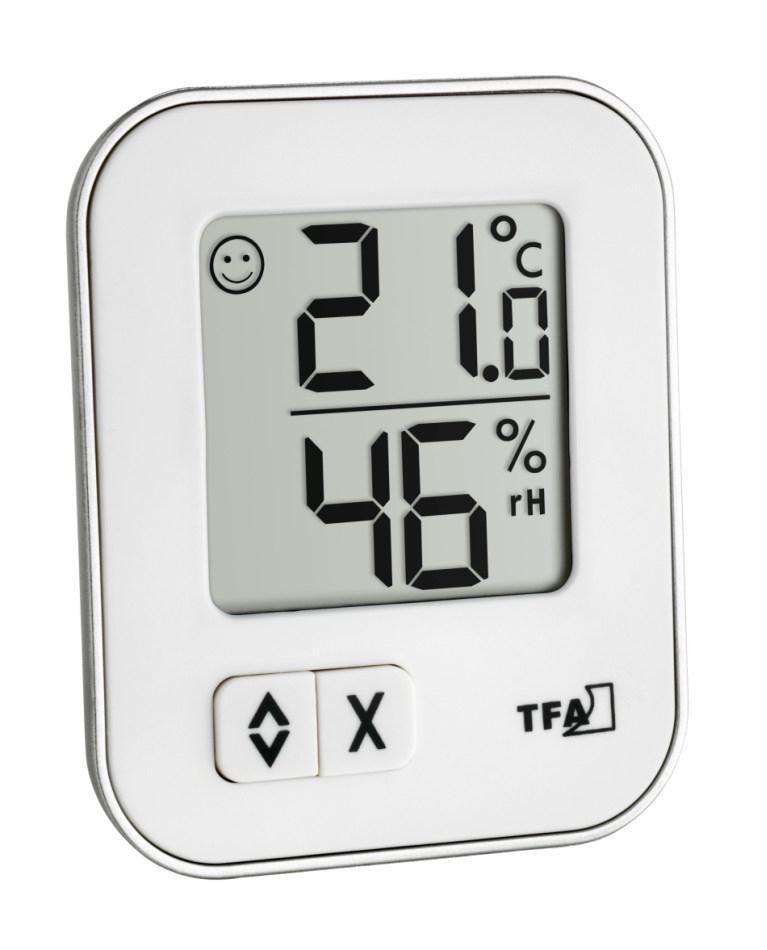 Digitální teploměr s vlhkoměrem TFA 30.5026.02 MOXX - bílý