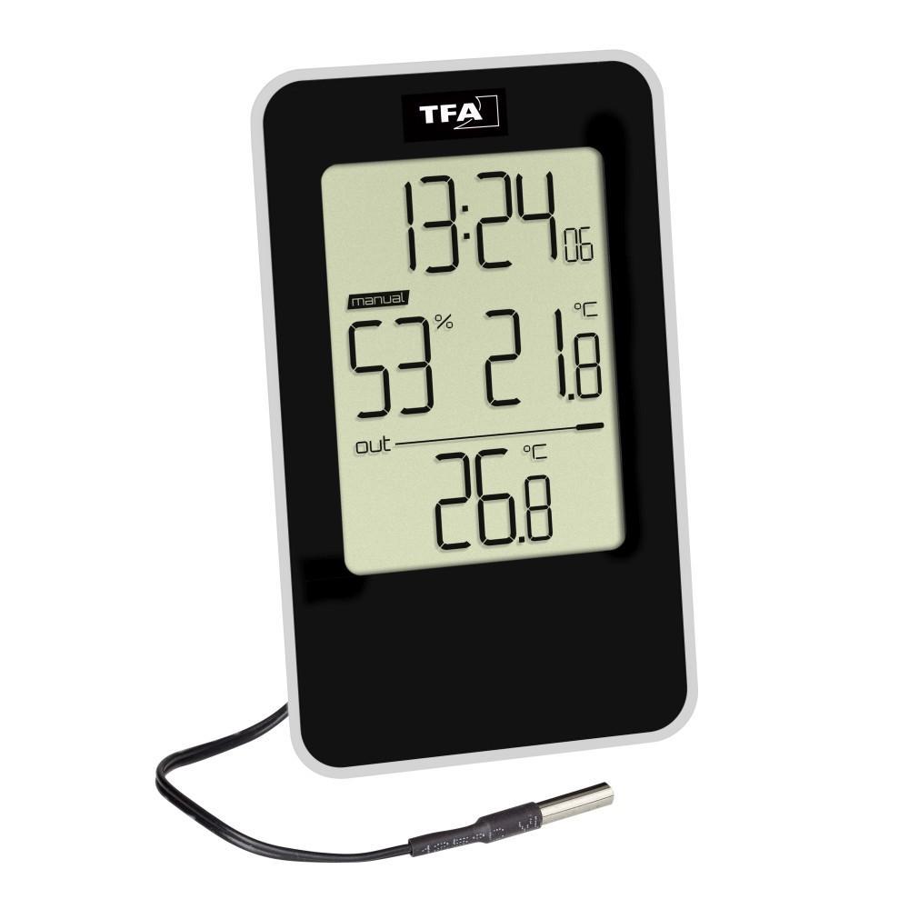 Teploměr s kabelovým senzorem a vlhkoměr TFA 30.5048.01