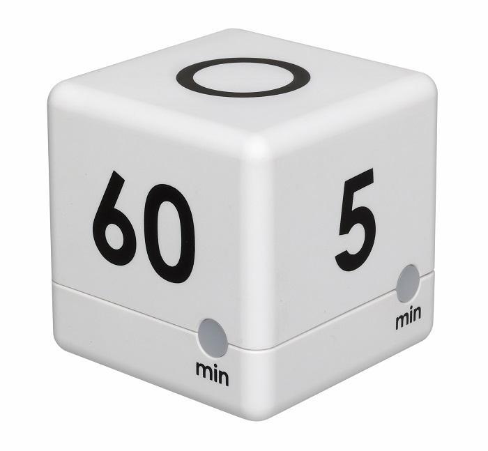 Digitální časovač TFA 38.2032.02 CUBE - bílý