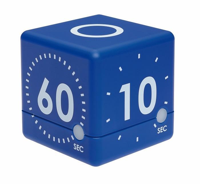 Digitální časovač TFA 38.2036.06 CUBE - modrý
