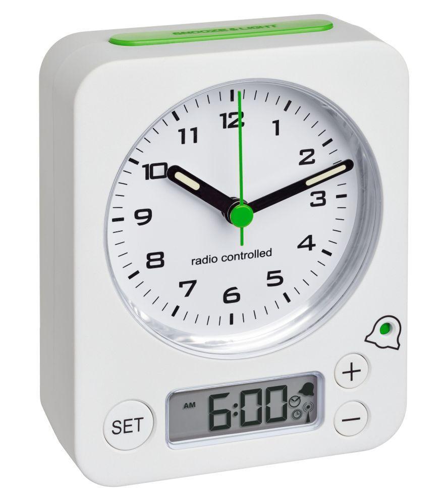 Analogový budík s rádiově řízeným časem TFA 60.1511.02.04 COMBO