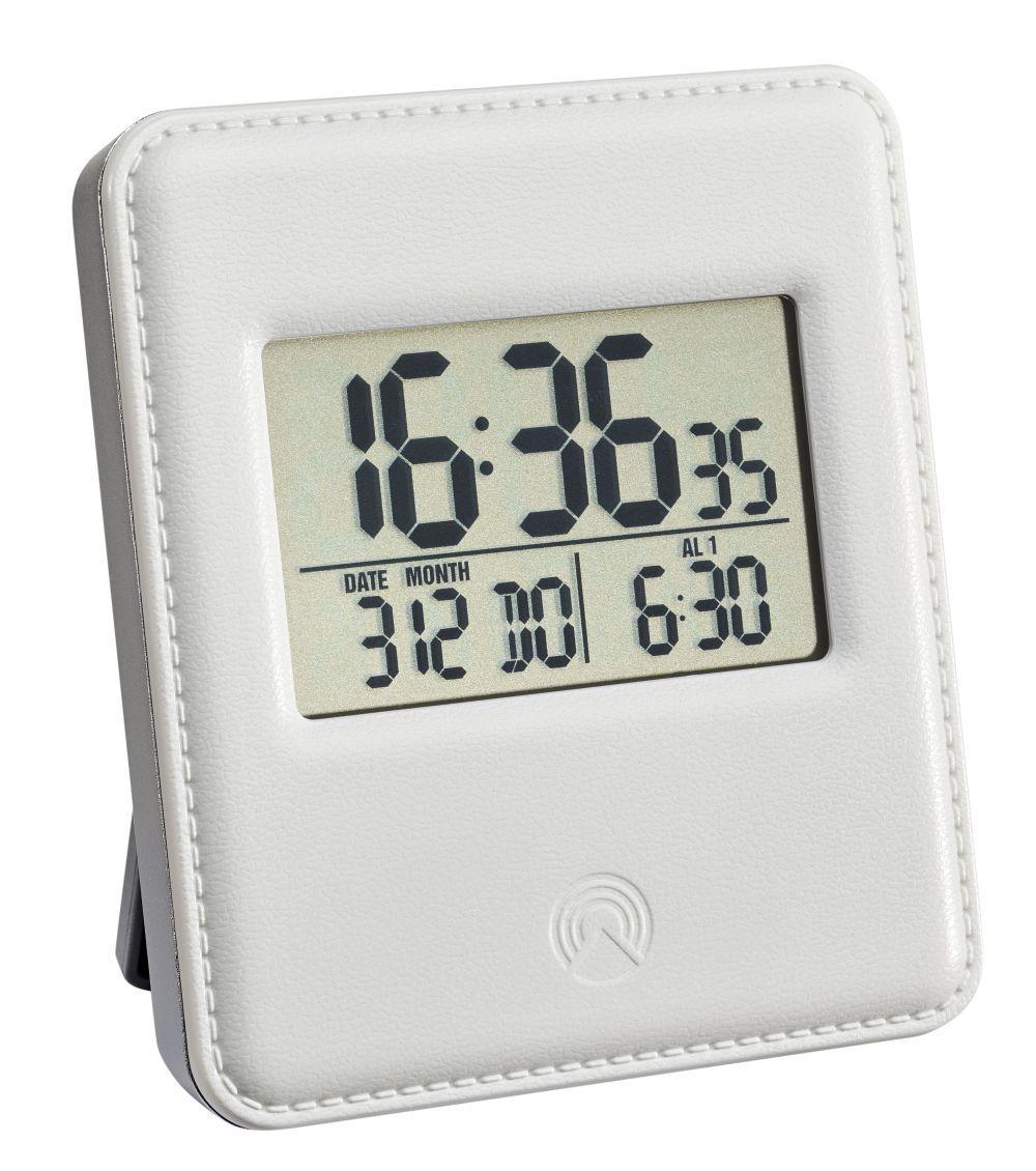 Digitální budík s hodinami řízenými DCF signálem TFA 60.2534.02 - bílý