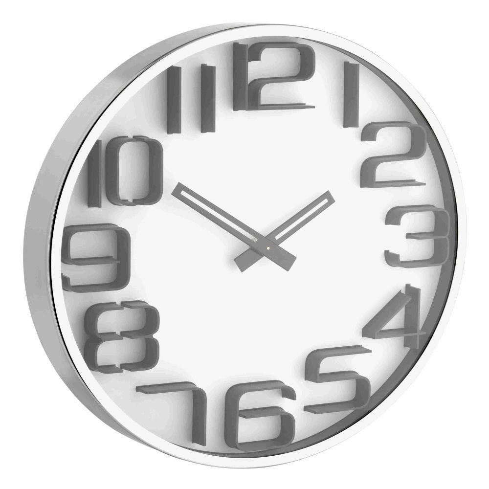 Designové nástěnné hodiny s 3D číslicemi TFA 60.3016.02