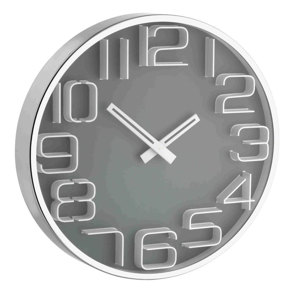 Designové nástěnné hodiny s 3D číslicemi TFA 60.3016.10