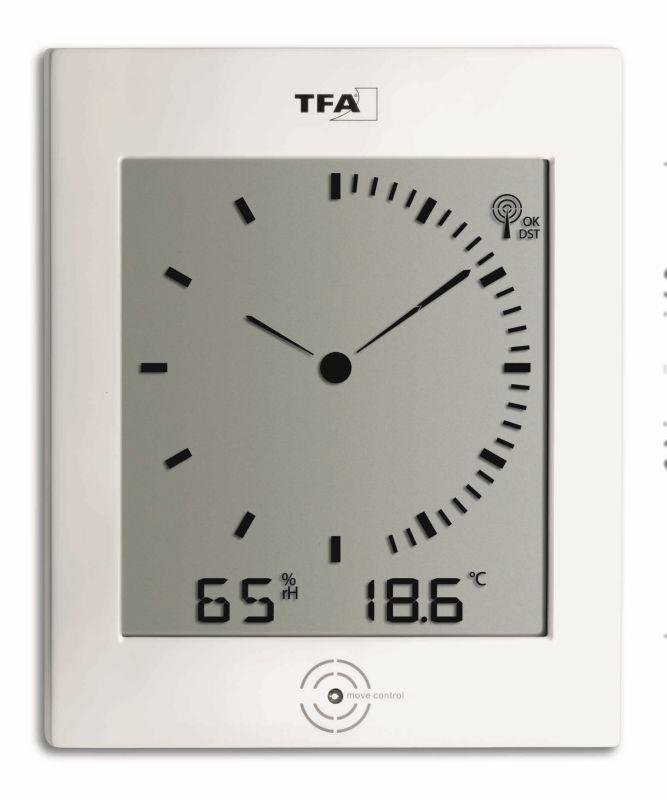 Rádiem řízené nástěnné hodiny s vnitřním klimatem TFA 60.4506 DIALOG