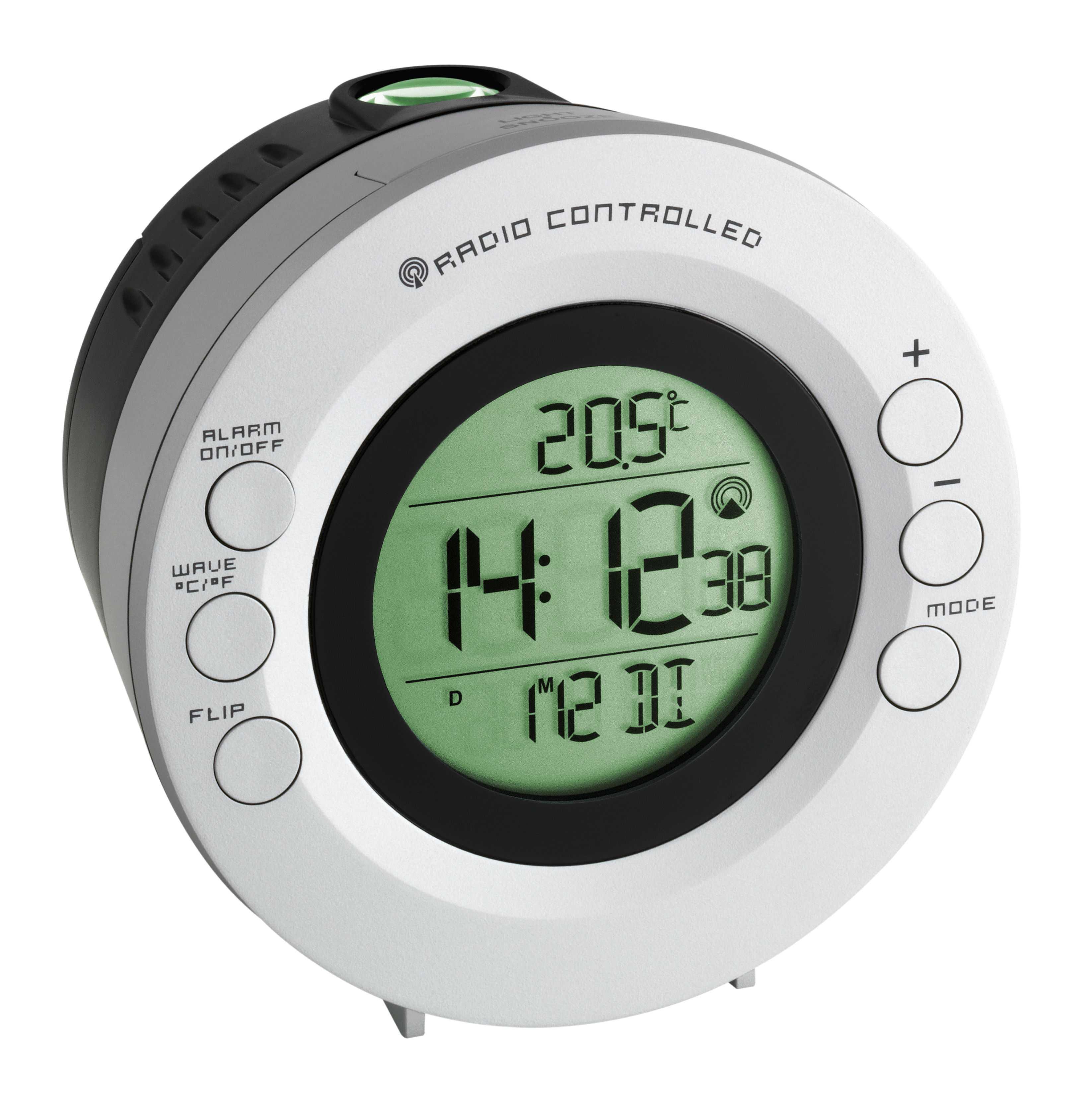Rádiem řízené hodiny s projektorem a teploměrem typ TFA 60.5000