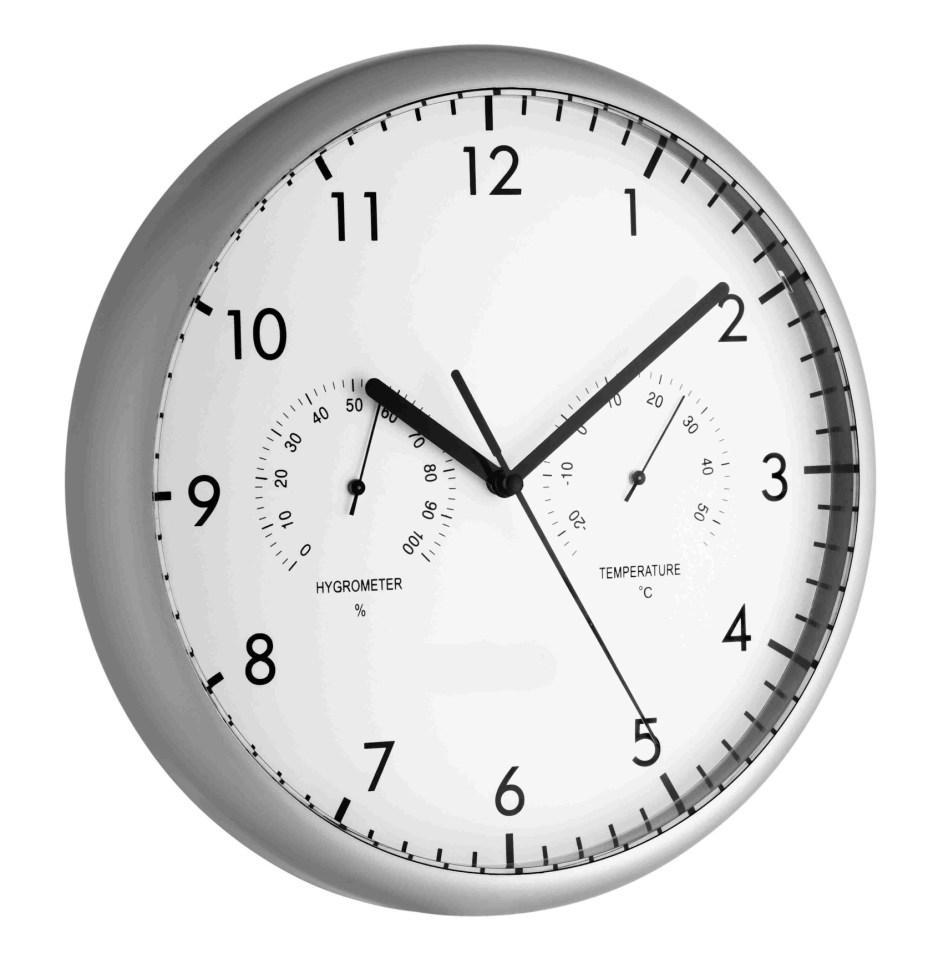 Nástěnné hodiny s teploměrem a vlhkoměrem TFA 98.1072