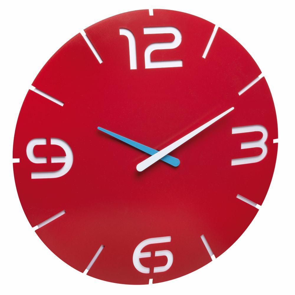 Nástěnné hodiny TFA 60.3047.05 CONTOUR - červené