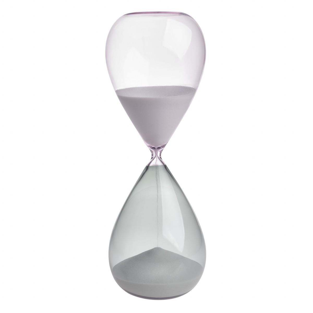 TFA 18.6009.02.40 - přesýpací hodiny - 15 minut - šedá/růžová