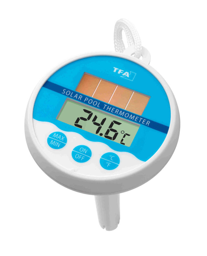 Bazénový digitální teploměr TFA 30.1041 se solárním panelem
