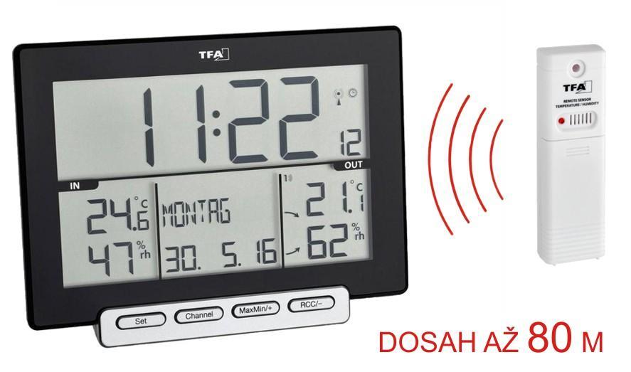 Teploměr a vlhkoměr s bezdrátovým senzorem TFA 30.3058.01 TRINITY