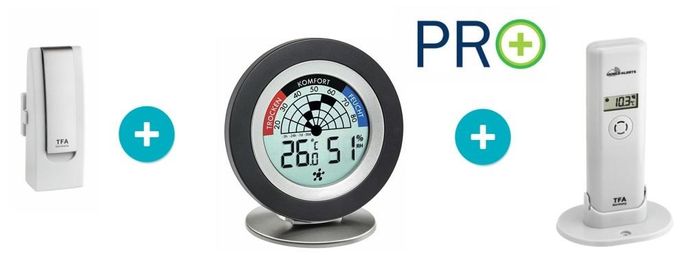 TFA 31.4008.02 - WEATHERHUB - Bezdrátový monitor klimatu - startovní balíček č. 8