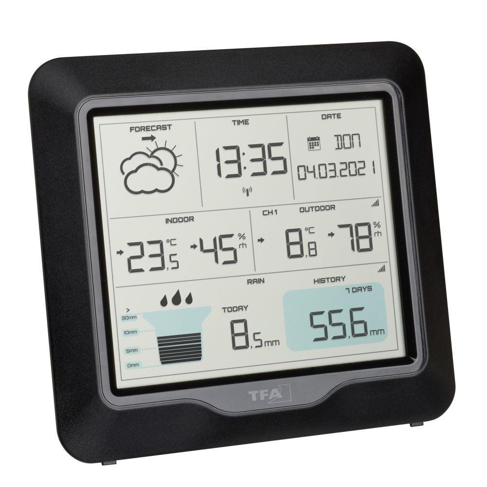 TFA 35.1160.01 - Domácí meteostanice s předpovědí počasí a srážkoměrem RAIN PRO