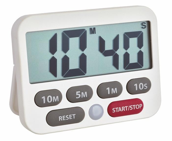 Digitální časovač a stopky 38.2038.02 - bílá