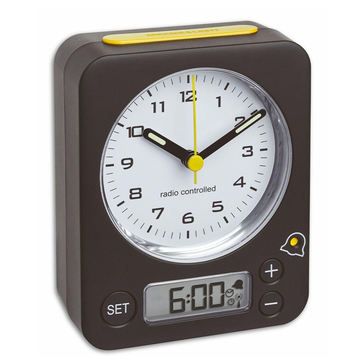 Analogový budík s rádiově řízeným časem TFA 60.1511.01.07 COMBO