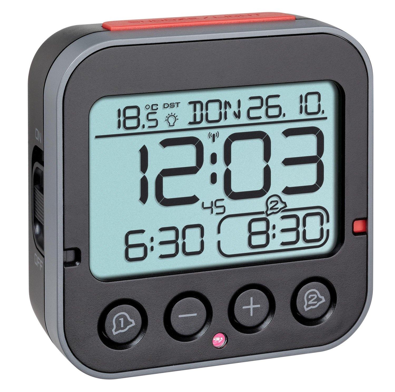 Digitální rádiem řízený budík s ukazatelem vnitřní teploty TFA 60.2550.01 BINGO 2.0