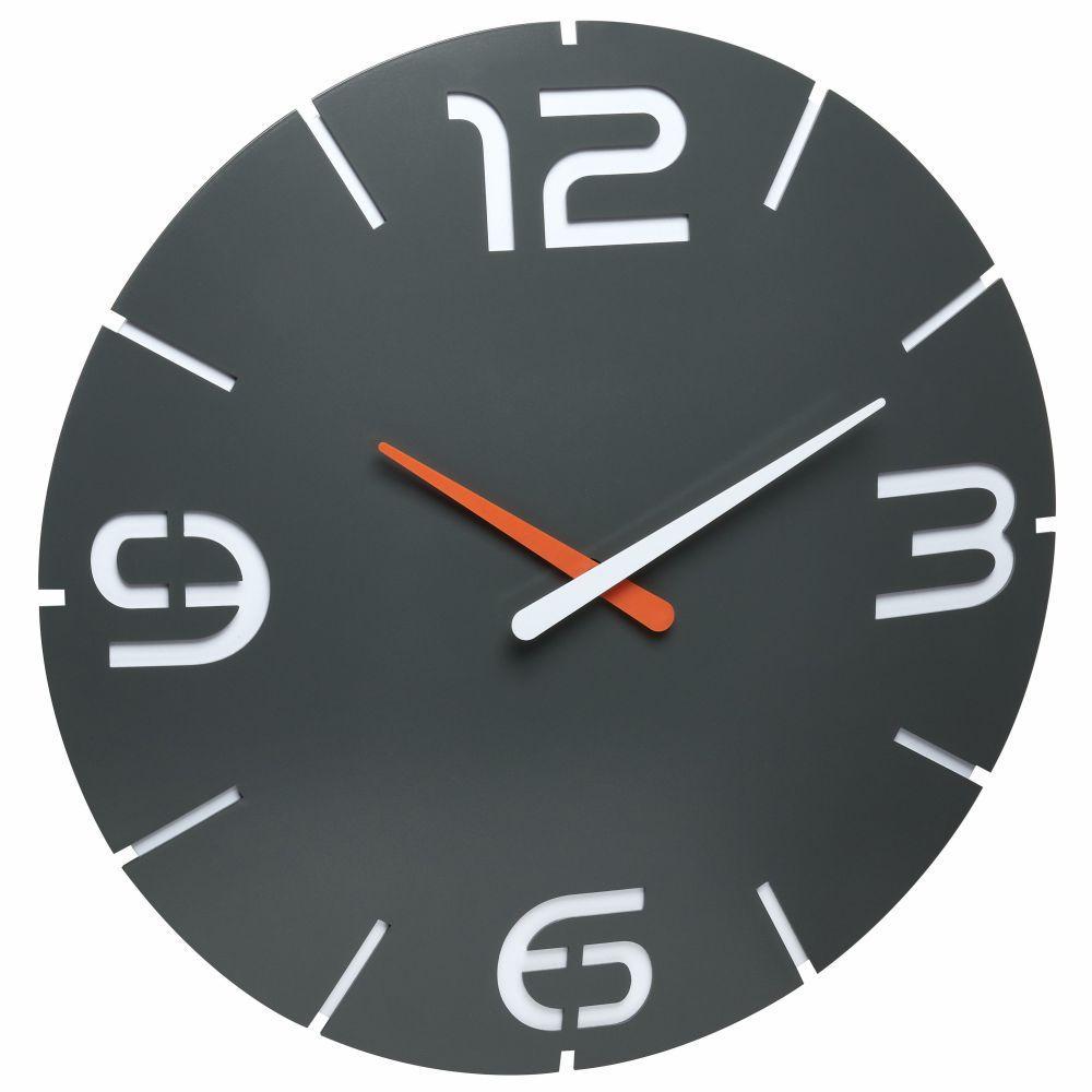 Nástěnné hodiny s rádiově řízeným časem TFA 60.3536.10 CONTOUR - černé