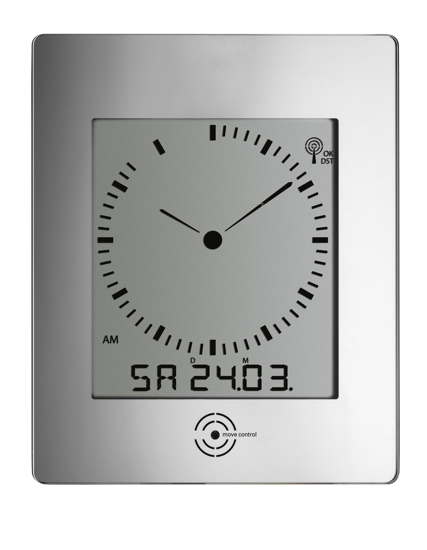 Rádiem řízené nástěnné hodiny TFA 60.4507