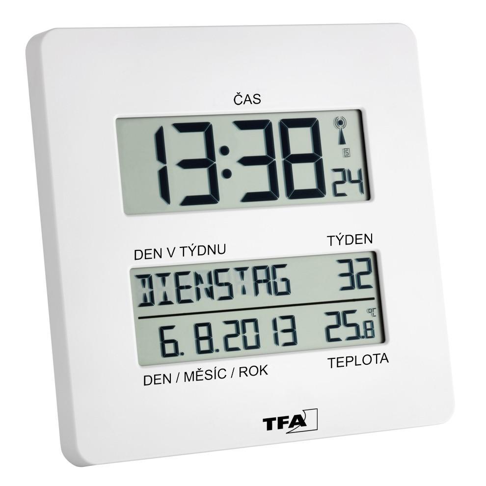 Nástěnné hodiny řízené rádiovým signálem DCF TFA 60.4509.02