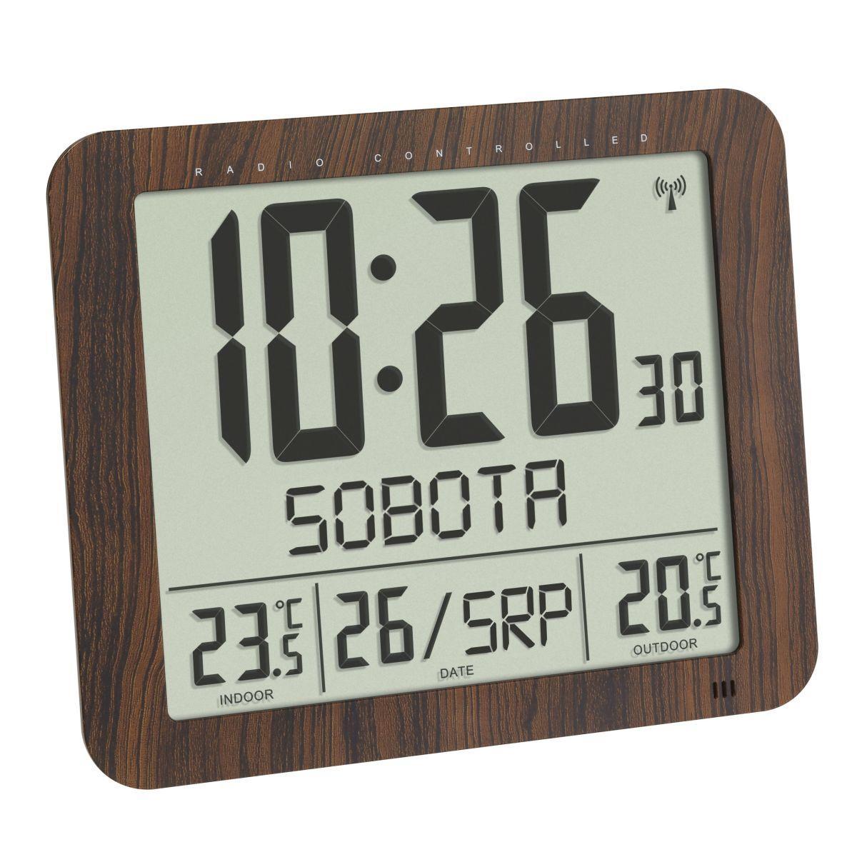 Nástěnné hodiny DCF s venkovním čidlem teploty a s českým dnem v týdnu TFA 60.4518.08