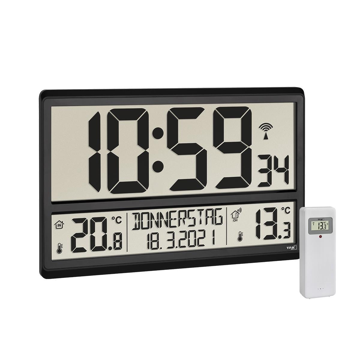 TFA 60.4521.01 - Nástěnné hodiny s vnitřní a vnější teplotou