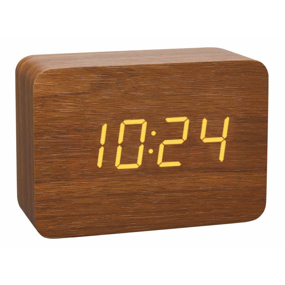 Rádiem řízeným budík ve dřevěném stylu TFA 60.2549.08 CLOCCO - hnědá