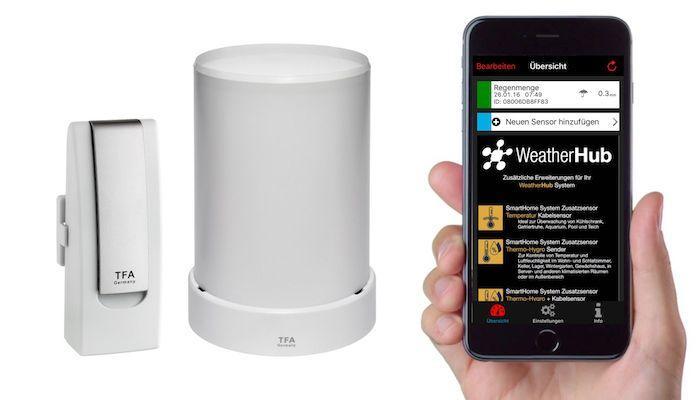 Bezdrátový monitor klimatu TFA 31.4003.02 WEATHERHUB - startovní balíček č. 3